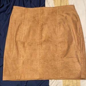 Beige mini skirt (m)